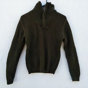 H&M Turtleneck with Zipper Green Sweater Size S